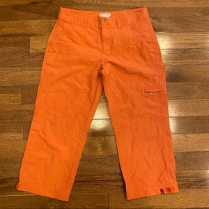 ROYAL ROBBINS ORANGE HIKING CROPS
